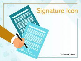 Signature Icon Agreement Dollar Sign Fountain Digital Electronic Declaration