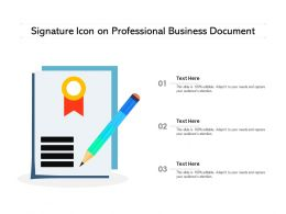 Signature Icon On Professional Business Document