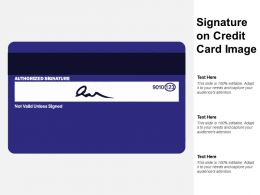 Signature On Credit Card Image