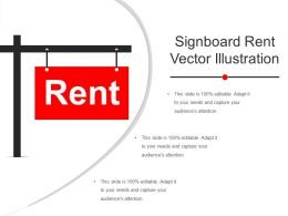 Signboard Rent Vector Illustration