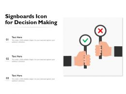 Signboards Icon For Decision Making