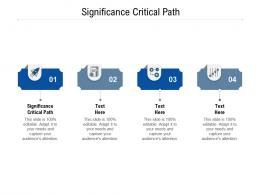 Significance Critical Path Ppt Powerpoint Presentation Ideas Themes Cpb