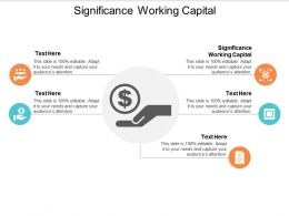 Significance Working Capital Ppt Powerpoint Presentation Portfolio Information Cpb