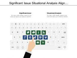 Significant Issue Situational Analysis Align Capability Major Goals