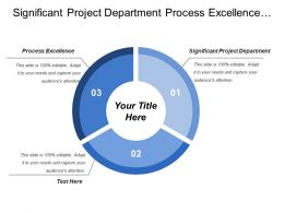 Significant Project Department Process Excellence Manufacture Technology Department