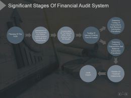 Significant Stages Of Financial Audit System Presentation Image