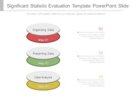Significant Statistic Evaluation Template Powerpoint Slide