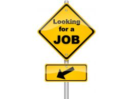 Signpost Of Looking Job Stock Photo