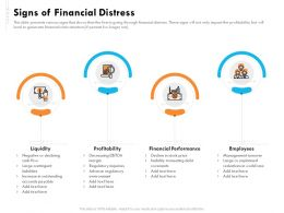 Signs Of Financial Distress Employees Ppt Demonstration