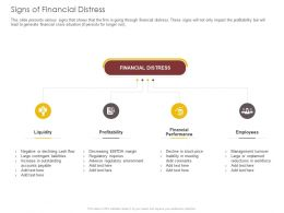 Signs Of Financial Distress Liquidity Ppt Powerpoint Presentation Slide Download