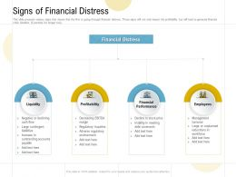 Signs Of Financial Distress Ppt Powerpoint Presentation Files