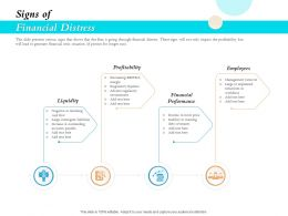 Signs Of Financial Distress Ppt Powerpoint Presentation Gallery