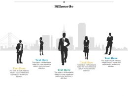 Silhouette Communication Ppt Infographics Example Introduction