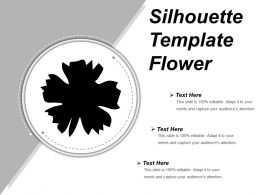 Silhouette Template Flower Powerpoint Graphics