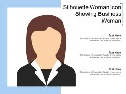 Silhouette Woman Icon Showing Business Woman