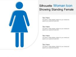 Silhouette Woman Icon Showing Standing Female