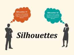 Silhouettes Communication Management Planning Business Marketing Strategy
