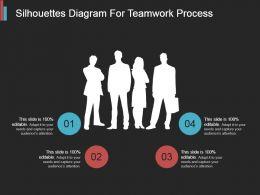 Silhouettes Diagram For Teamwork Process Ppt Slides Download