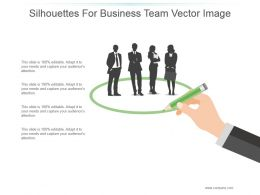 Silhouettes For Business Team Vector Image Ppt Samples Download