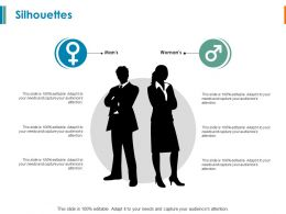 Silhouettes Man And Woman Ppt Powerpoint Presentation File Backgrounds