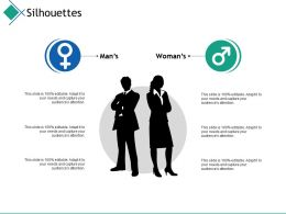Silhouettes Man Woman I27 Ppt Powerpoint Presentation File Templates