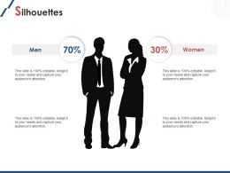 Silhouettes Men And Women Ppt Powerpoint Presentation File Design Ideas
