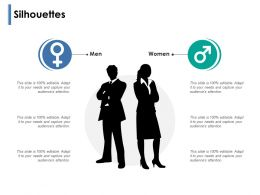 Silhouettes Men And Women Ppt Powerpoint Presentation Show Outfit