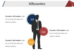Silhouettes Ppt Background Template