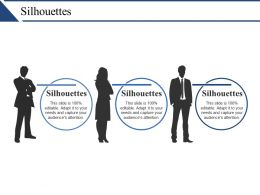 Silhouettes Ppt Example