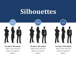 Silhouettes Ppt File Vector