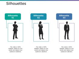 Silhouettes Ppt Icon Infographics