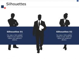 Silhouettes Ppt Icon Slide Portrait