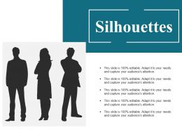 Silhouettes Ppt Model Background Designs