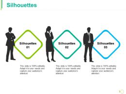 Silhouettes Ppt Model Icons