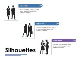 Silhouettes Ppt Model Slide