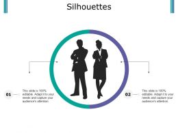 Silhouettes Ppt Outline Gridlines