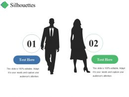 Silhouettes Ppt Summary Design Templates