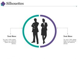 Silhouettes Ppt Summary Designs