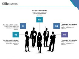 Silhouettes Ppt Summary Slide Download