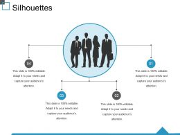 Silhouettes Ppt Visual Aids Model