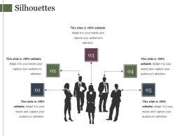 Silhouettes Presentation Powerpoint Templates