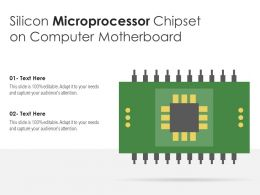 Silicon Microprocessor Chipset On Computer Motherboard