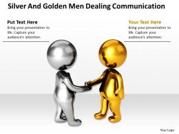 Silver And Golden Men Dealing Communication Ppt Graphics Icons Powerpoint 0529