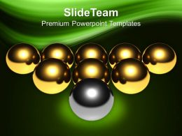 Silver Ball Infront Of Golden Leadership PowerPoint Templates PPT Themes And Graphics 0213