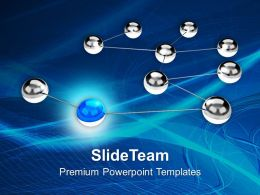 Silver Balls Interconnected Networking PowerPoint Templates PPT Themes And Graphics 0213