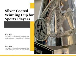 Silver Coated Winning Cup For Sports Players