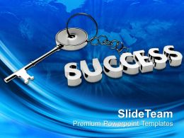 silver_key_with_success_on_chain_business_powerpoint_templates_ppt_themes_and_graphics_0113_Slide01
