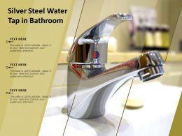 Silver Steel Water Tap In Bathroom