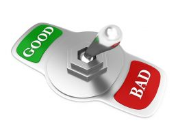 Silver Switch With Good And Bad Words Stock Photo