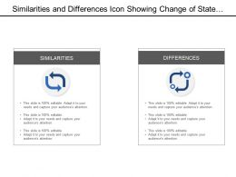 Similarities And Differences Icon Showing Change Of State In Same And Different Object